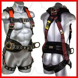 Harnesses For Construction Roofer Safety Kit Full Body Roofing Fall Protection
