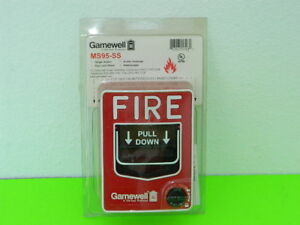 New Gamewell Ms95 ss Addressable Manual Pull Station Fire Alarm