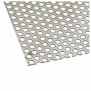 Steel Perforated Sheet Thickness 036 Width 24 Length 36 Hole 1 4