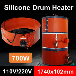 55gallon 700w 110 220v Silicone Band Drum Heater Oil Biodiesel Metal Barrel