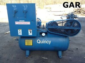 Quincy 210l a 1hp Reciprocating Air Compressor 2 5 X 2 200psi 95 Gallon Tank