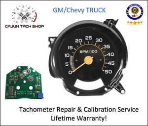 Tachometer Repair Calibration Service 4k Rpm Gm Trucks C2500 K30 C30 C10