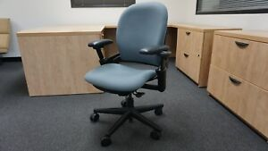 Qty100 used Ergonomic Steelcase Leap Chair V1 Fabric Fully Adjustable