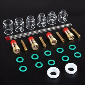 30 Pcs Tig Welding Stubby Gas Lens Pyrex Cup Kit For Tig Wp 17 18 26 Torch