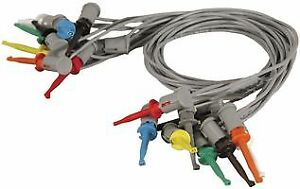 76 004a Tenma Test Lead Set Hook Clip To Hook Clip 60 V 2 A 500 Mm 8 Leads
