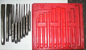 Snap On 10 Pc Punch And Chisel Set Pak430470 Most Need Dressing Free Ship