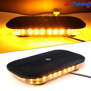 Primelux 12 inch 30x3w Amber Led Mini Bar Emergency Caution Warning Light Strobe