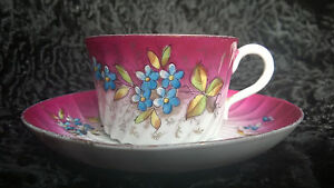Antique Imperial Russian Porcelain Cup Saucer Kuznecov Hand Painted Rare Gift