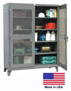 Steel Cabinet Commercial industrial Ventilated Lockable 78 H X 24 D X 60 W