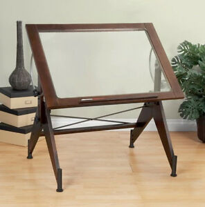 Architectural Drafting Table Top Studio Designs Aries Glass Adjustable New Wood