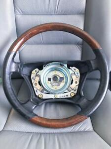 Mercedes W 140 S420 S600 S500 Cl500 Cl600 Burl Wood Leather Steering Wheel Oem