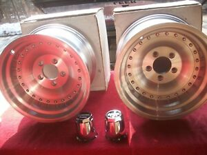 Vintage 1990 S Nos American Racing Outlaw 1 15 X 8 5 Aluminum Wheels In Boxes Pr
