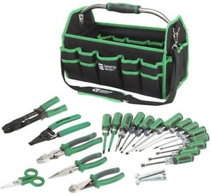 Commercial Electric 22 piece Electrician Tool Set Bag Wire Pliers Strippers New
