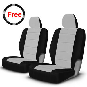 New Front Seat Cover With Steering Wheel Cover Pockets For 2009 2017 Dodge Ram