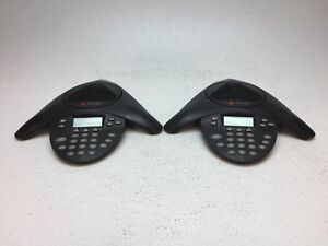 Lot Of 2 Polycom Soundstation Ip4000 2201 06642 601 No Power Adapter Tested