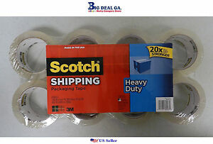 Scotch Shipping 8 Rolls 1 88 In X 54 6 Yd 48 Mm X 50 M Packaging Tape New