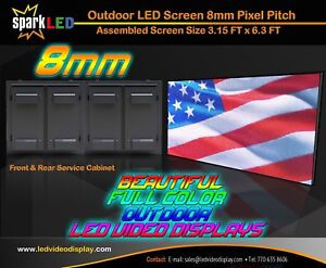 Outdoor Led Sign P8 3 x6 Full color Double sided Programmable Digital Display