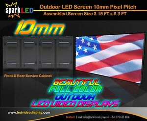 Outdoor Led Sign P10 3 x6 Full color Double sided Programmable Digital Display