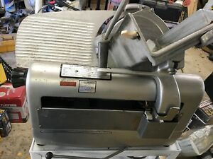 Hobart Automatic Meat Slicer Model 1712 1 3 Hp 4 4 Volt Rpm 1725