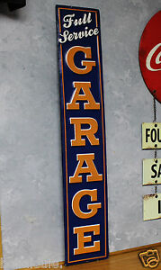 Full Service Garage Metal Vintage Style Signs Pump Station Not Porcelain Gas