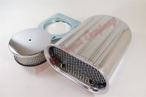 Aluminum Mini Hood Scoop Single Quad Air Cleaner 4 Barrel Carb