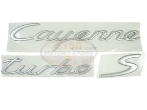 Porsche Cayenne Turbo S 2006 2009 2010 Emblem Satin Finish New 95555903900