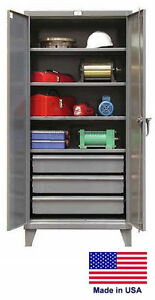 Steel Cabinet Commercial industrial Shelves Drawers 4 3 78 H X 24 D X 36 W
