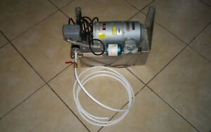 Gast Air Compressor With 2 Gallon Stainless Tank Attached