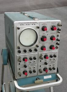 Tektronix Oscilloscope Model 551 Complete With Power Supply And Stand