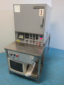 Dispatch System Vacuum Bench Top Oven W Leybold Trivac D40b Vacuum Pump