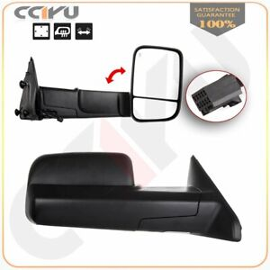 Lh Rh Black Power Heated Tow Side Mirrors For 2010 2015 Dodge Ram 1500 2500 3500