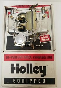 Return Item 600 Carb Holley 4160 Hp 4 Barrel Carburetor 0 80457s Manual Polished