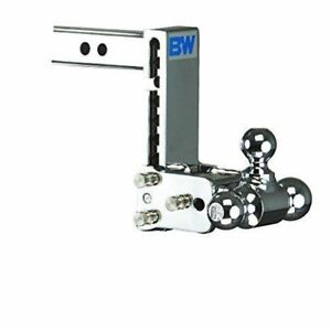 B W Ts10049c Tow Stow 3 Ball Mount Hitch 7 Drop 7 5 Rise Chrome For 2 Hitch