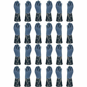 Atlas 720 Dipped nitrile Blue Chemical Resistant Xx large Work Gloves 12 pairs