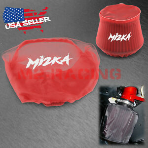 Red Engine Air Intake Pre Filter Cone Conical Filter Cover Ram Pickup