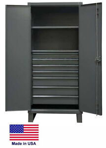 Steel Cabinet Commercial industrial Shelves Drawers 2 7 78 H X 24 D X 36 W