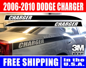 Dodge Charger Back Quarter Panel Stripes Decal Kit 2006 2007 2008 2009 2010