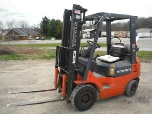2006 Toyota 7fgu15 3000 Lb Class Propane 2 stage Forklift Fork Lift