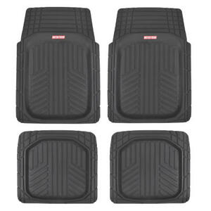 Motor Trend Deep Dish Triflex All Weather Rubber Car Floor Mats Black