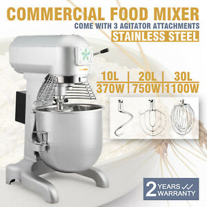 Food Dough Stand Mixer Mixing Tool Stainless Steel Bowl 10l 20l 30l Usa Stock