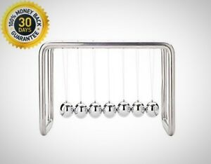7 Balls Newtons Cradle Office Decoration Stainless Steel Strings Desk Durable