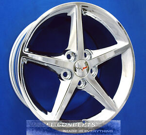 Corvette C6 18 19 Inch Chrome Wheels Rims 05 2013 Oe Staggered 18x8 5 19x10