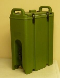 Cambro 5 Gallon Insulated Beverage Server 500lcd403 Army Green Camtainer Unused
