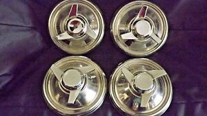 Spinner Dog Dish 9 Id Oem Mopar Stainless High Crown Dodge Plymouth Hubcaps