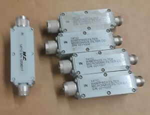 Lot Of 5 Telonic Berkeley Microwave Bandpass Filter 14712 N female To N male