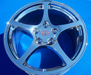 Corvette C5 17 18 Inch Chrome Wheels Rims 97 2004 Oe Staggered 17x8 5 18x9 5