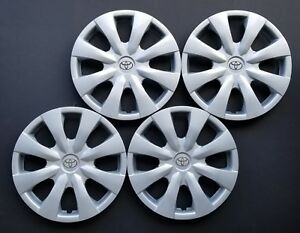 New Wheel Covers Fits 2009 2010 2011 2012 2013 Toyota Corolla 15 Set Of 4
