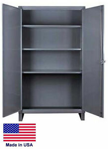 Steel Cabinet Commercial industrial 12 Ga Stl 3 Shelves 66 H X 36 W X 24 D