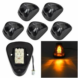 5x Amber Led 15442 Cab Marker Clearance Light Assembly For 99 18 Ford Super Duty
