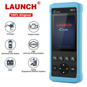 Launch Cr8011 Code Reader Full Obd2 Scanner Diagnostic Scan Tool Abs Srs Oil Epb